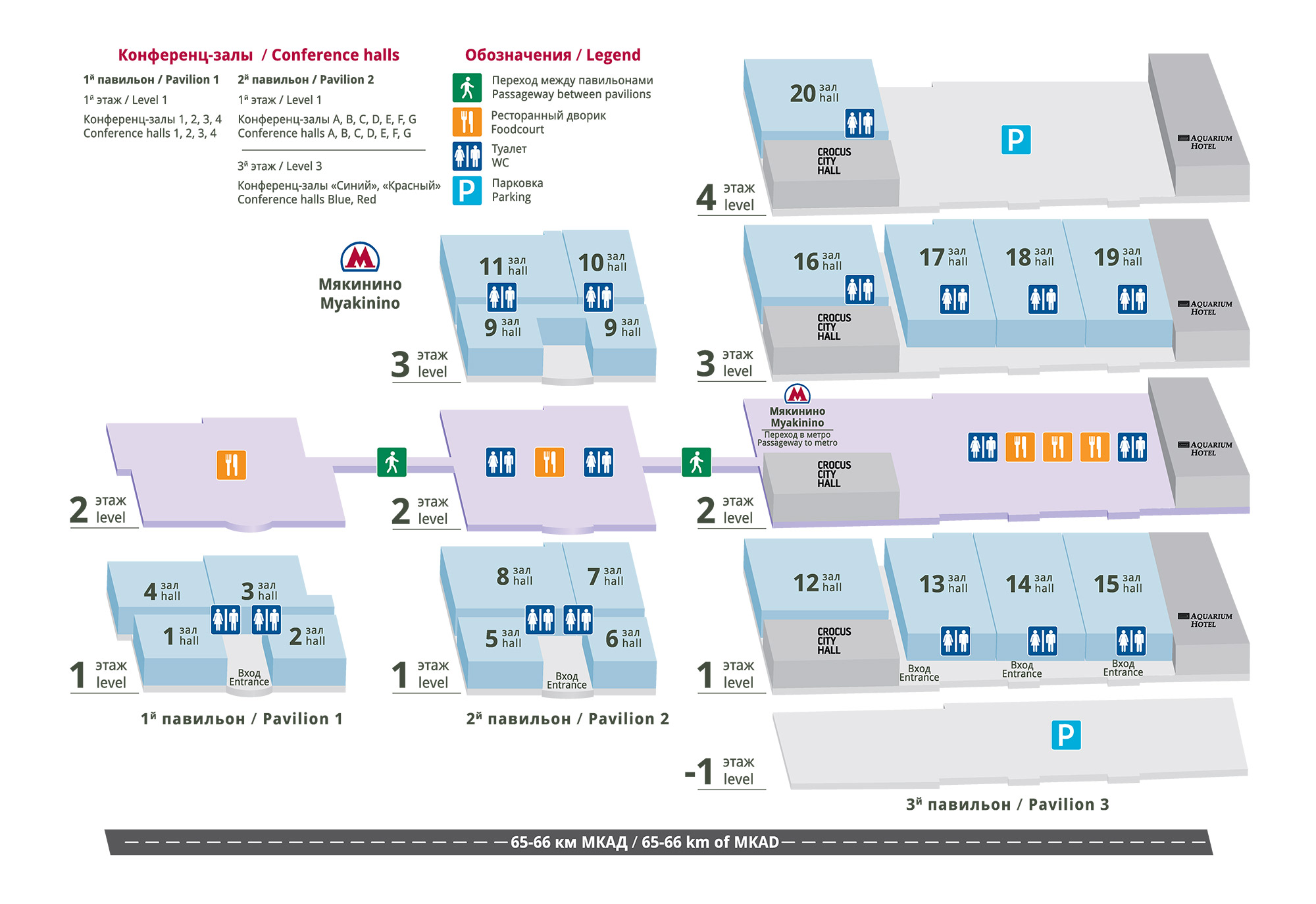Exhibition centre layout